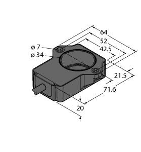 位置检测不是通过位置磁块而是通过电感性rlc的振荡电路来检测的.