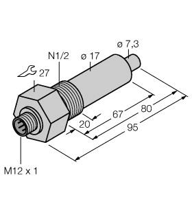 直流, 10…30 vdc常开,pnp输出电缆   电感性rlc的振荡电路来检测的
