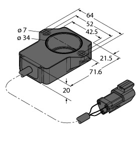 RI40P1-QR20-LU4X2-0.15-DT04-3P
